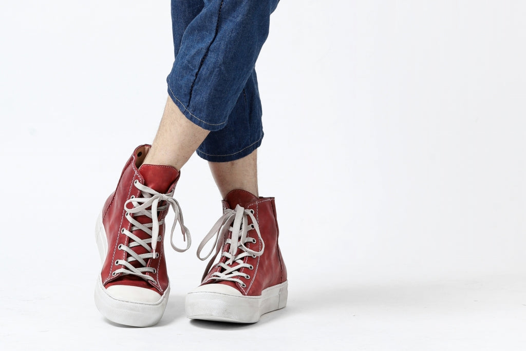 incarnation HIGH CUT LACE UP SNEAKER / HORSE FULL GRAIN (HAND DYED)