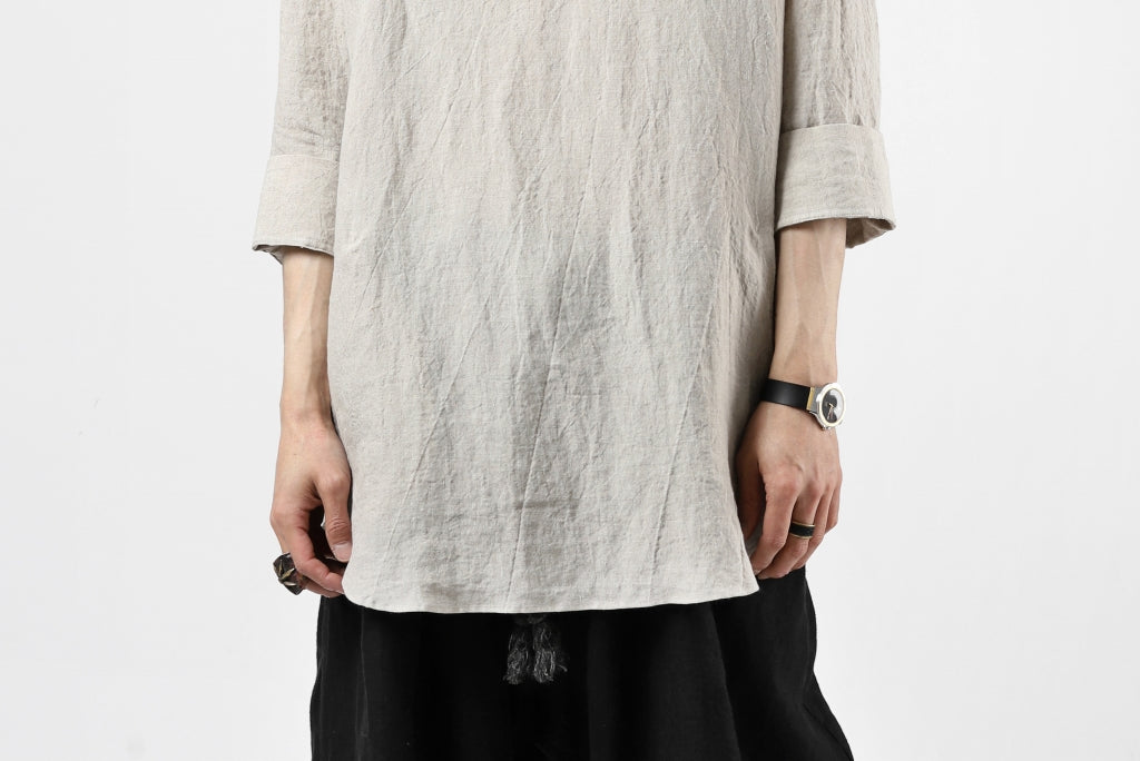ISAMU KATAYAMA BACKLASH SOFT LINEN SKIPPER SHIRT