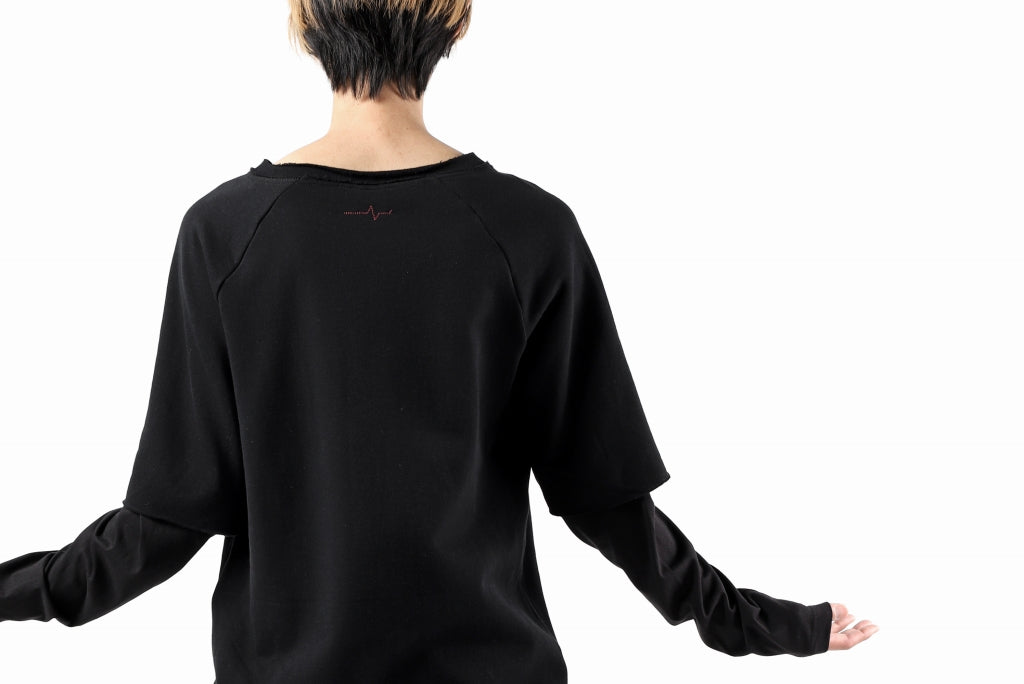 FIRST AID TO THE INJURED LAYERED SLEEVE TOPS / FRENCH TERRY + JERSEY