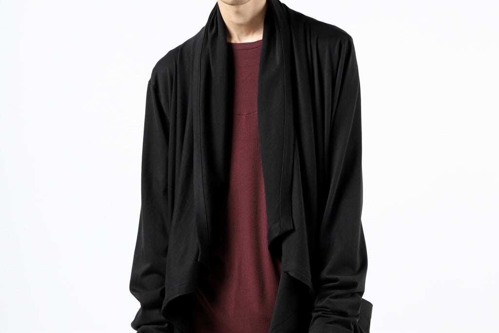 FIRST AID TO THE INJURED THEODOR DRAPE CARDIGAN / SINGLE JERSEY