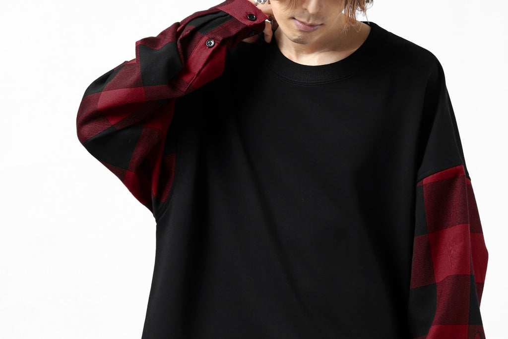 mastermind JAPAN DOCKING OVER TOPS / SWEAT+BLOCK CHECK