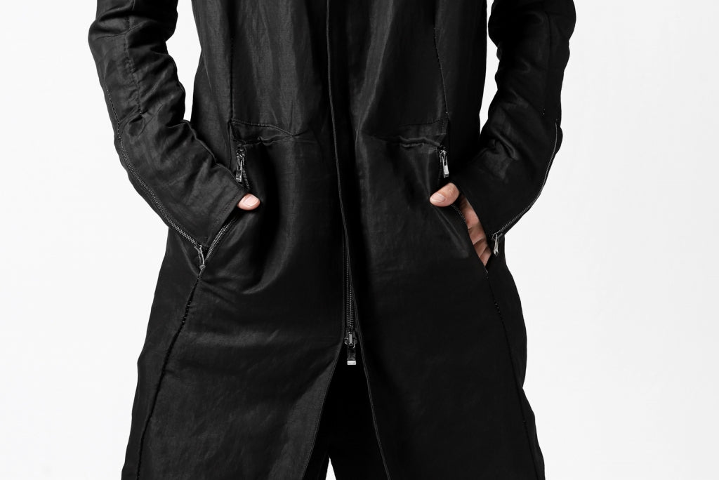 incarnation FIELD HOODED COAT / VISCOSE LINEN