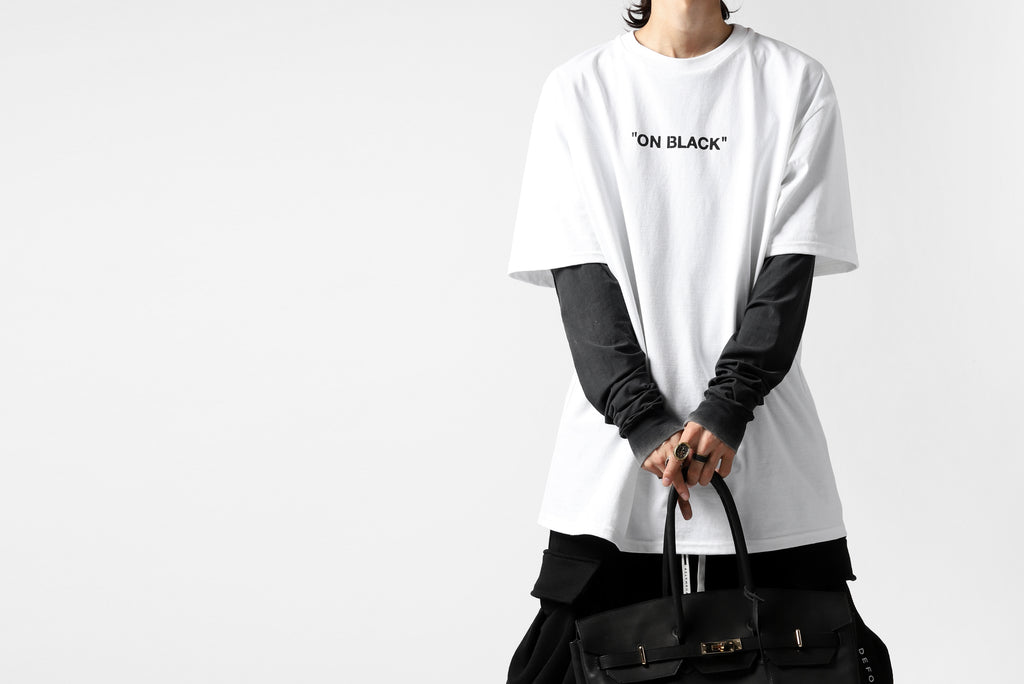 "A.F ARTEFACT x buggy exclusive ""ON BLACK"" T-SHIRT"