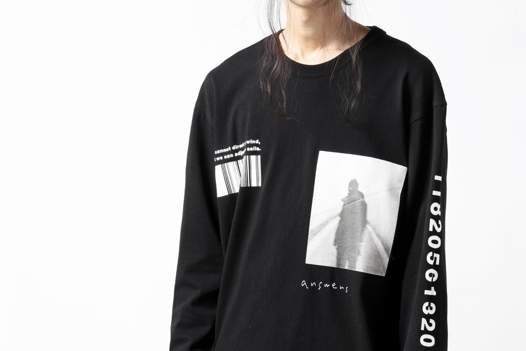 """A.F ARTEFACT """"ANSWERS"""" LOOSEY LONG SLEEVES (BLACK)"""