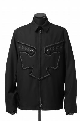 Y's BANG ON! No.118 WESTERN STYLE WOOL TROPICAL TOPPER BLOUSON
