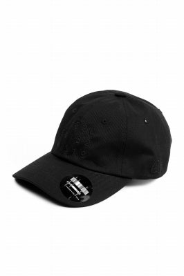 """A.F ARTEFACT """"NUMBERS"""" EMBROIDERY LOW-CAP (BLACK)"""