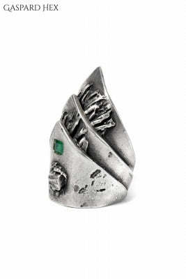 GASPARD HEX Mayan Ring with EMERALD JEWELRY