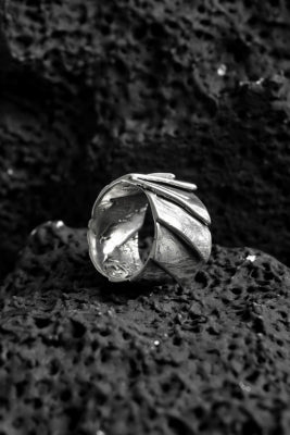 GASPARD HEX Solar Ring sterling silver