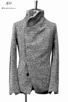 Load image into Gallery viewer, N/07 mixable tweed woven wrap jacket (BLACK MIX)