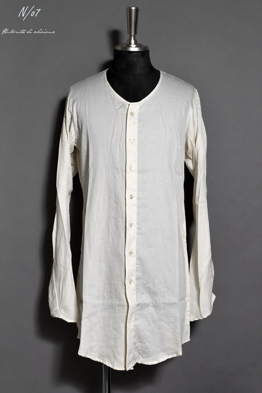 N/07 AIR SATIN COTTON MIDDLE CARDIGAN (WHITE)