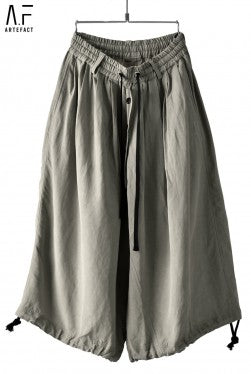 A.F ARTEFACT exclusive DRAWSTRING-HEM WIDE TROUSERS (LINEN VISCOSE)