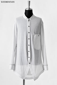 Load image into Gallery viewer, SOSNOVSKA CONTRAST STITCHED SHIRT (WHITE)
