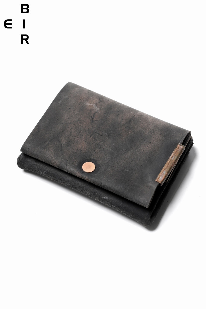 ierib Smart Folding Wallet / Shell Cordovan #C (MIX BLACK)
