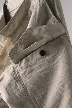 Load image into Gallery viewer, sus-sous wide trousers MK-1 (L65/C22/S13 cloth washer / NATURAL)