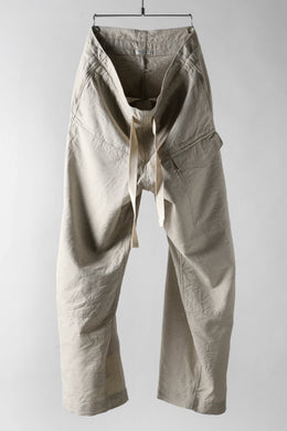 sus-sous wide trousers MK-1 (L65/C22/S13 cloth washer / NATURAL)