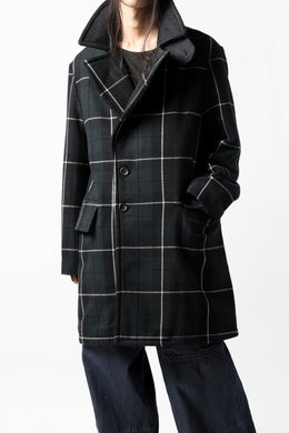 sus-sous great coat / wool cashmere twill (BLACK WATCH)