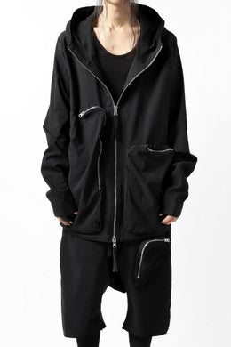 thomkrom RADICAL ZIP-POC HOODED JACKET (BLACK)