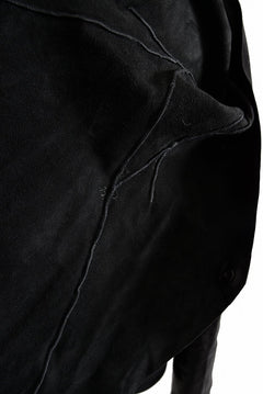 画像をギャラリービューアに読み込む, LEON EMANUEL BLANCK DISTORTION SHORT BLAZER / GUIDI OILED HORSE (BLACK)