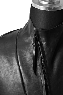 画像をギャラリービューアに読み込む, LEON EMANUEL BLANCK DISTORTION AVIATOR LEATHER JACKET / GUIDI OILED HORSE (BLACK)