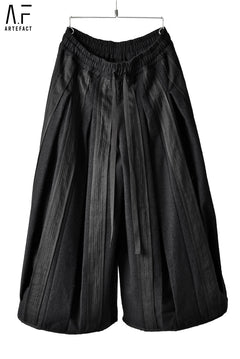 Load image into Gallery viewer, A.F ARTEFACT exclusive TUCKED WIDE PANTS / SEWING CRAFT STRIPE