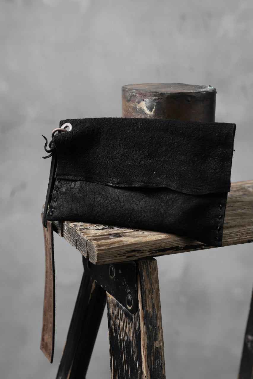 Chörds; TR CARD CASE / HORSE BUTT LEATHER (ROUGH / BLACK)