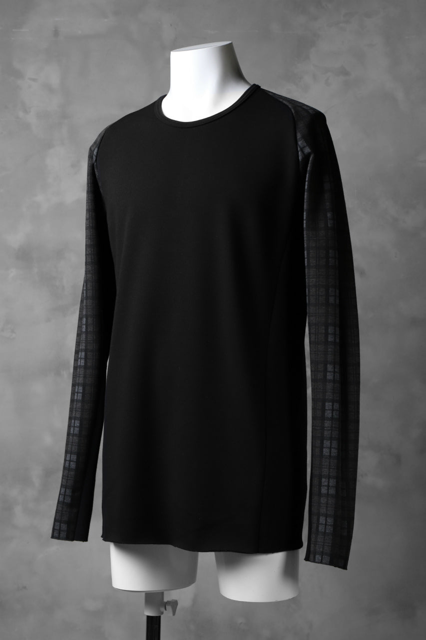 Load image into Gallery viewer, A.F ARTEFACT exclusive BomberHEAT® PLAID RAGLAN TOPS (BLACK×BROWN)