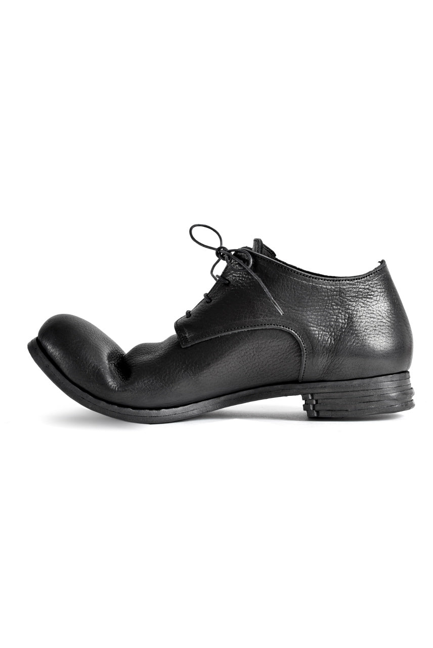 "prtl x 4R4s exclusive Derby Shoes / Waxy Steer ""No 3-2M"" (BLACK)"