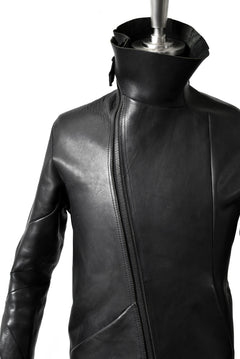 "画像をギャラリービューアに読み込む, LEON EMANUEL BLANCK DISTORTION LEATHER JACKET ""GUIDI CALF"" (BLACK)"