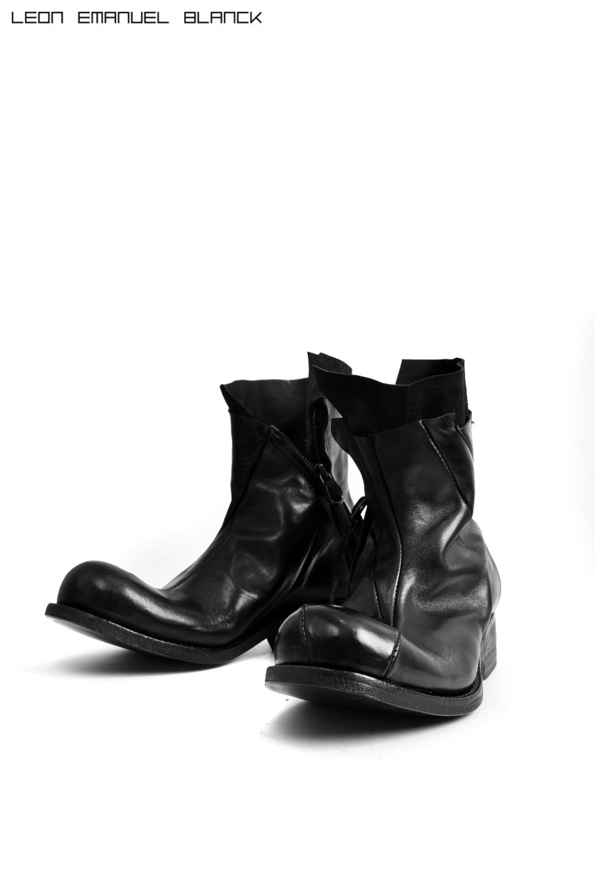LEON EMANUEL BLANCK DISTORTION ANKLE BOOT / GUIDI HORSE OILED (BLACK)