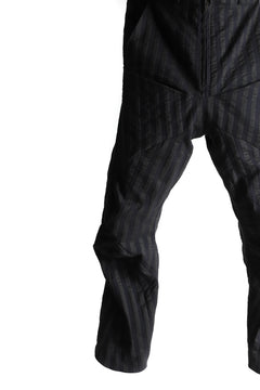 画像をギャラリービューアに読み込む, LEON EMANUEL BLANCK FORCED 6POCKET STRETCH ANKLE PANTS (BLACK STRIPE)