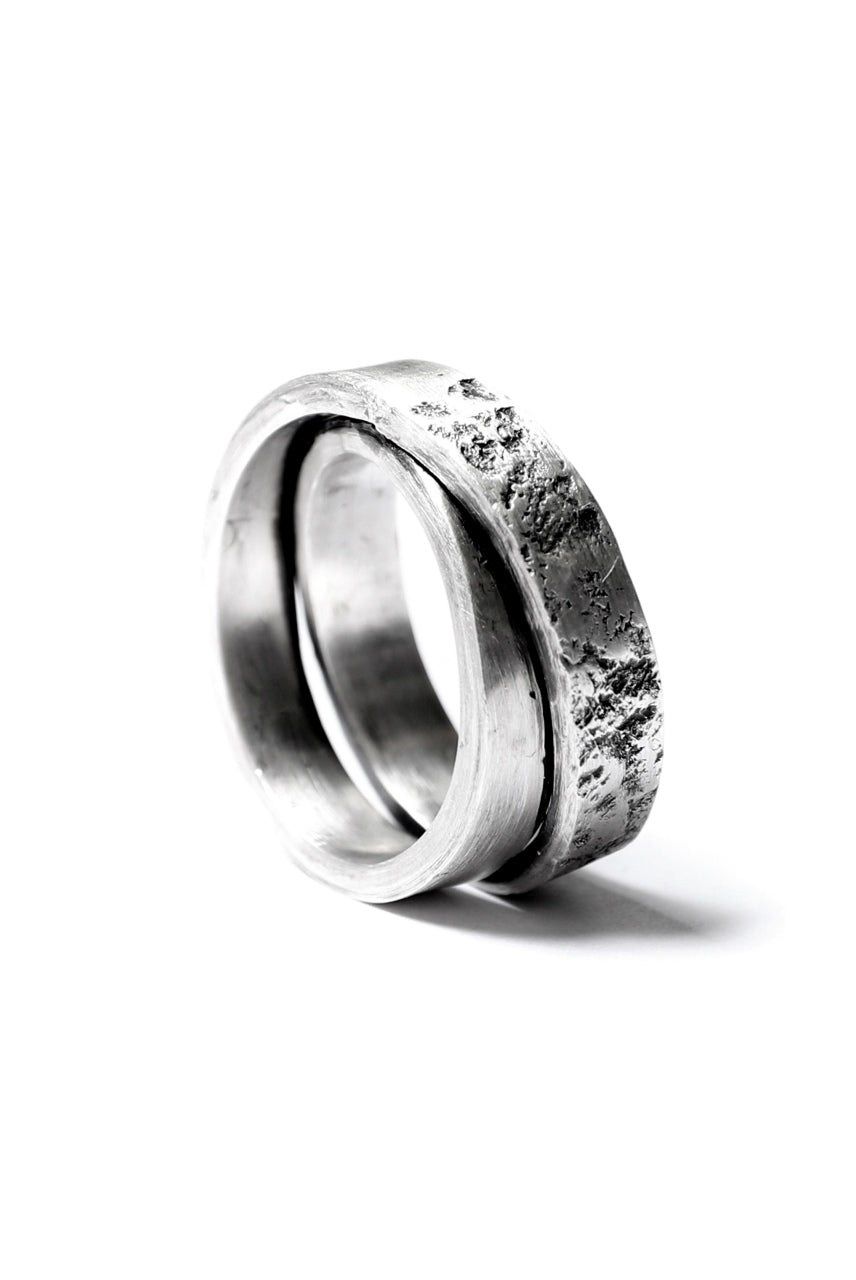 Holzpuppe Double banded Silver ring texture-1