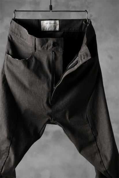 N/07 exclusive CONSTRUCTIVE FORMED SKINNY TROUSERS [ High Stretch Denim/Bio ] (KHAKI BROWN)