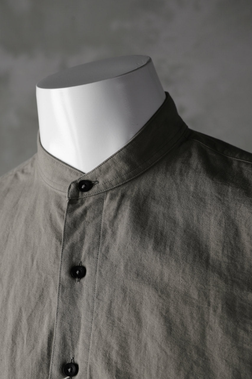 COLINA GRANPA SHIRT / PAPER COTTON (GRAY)