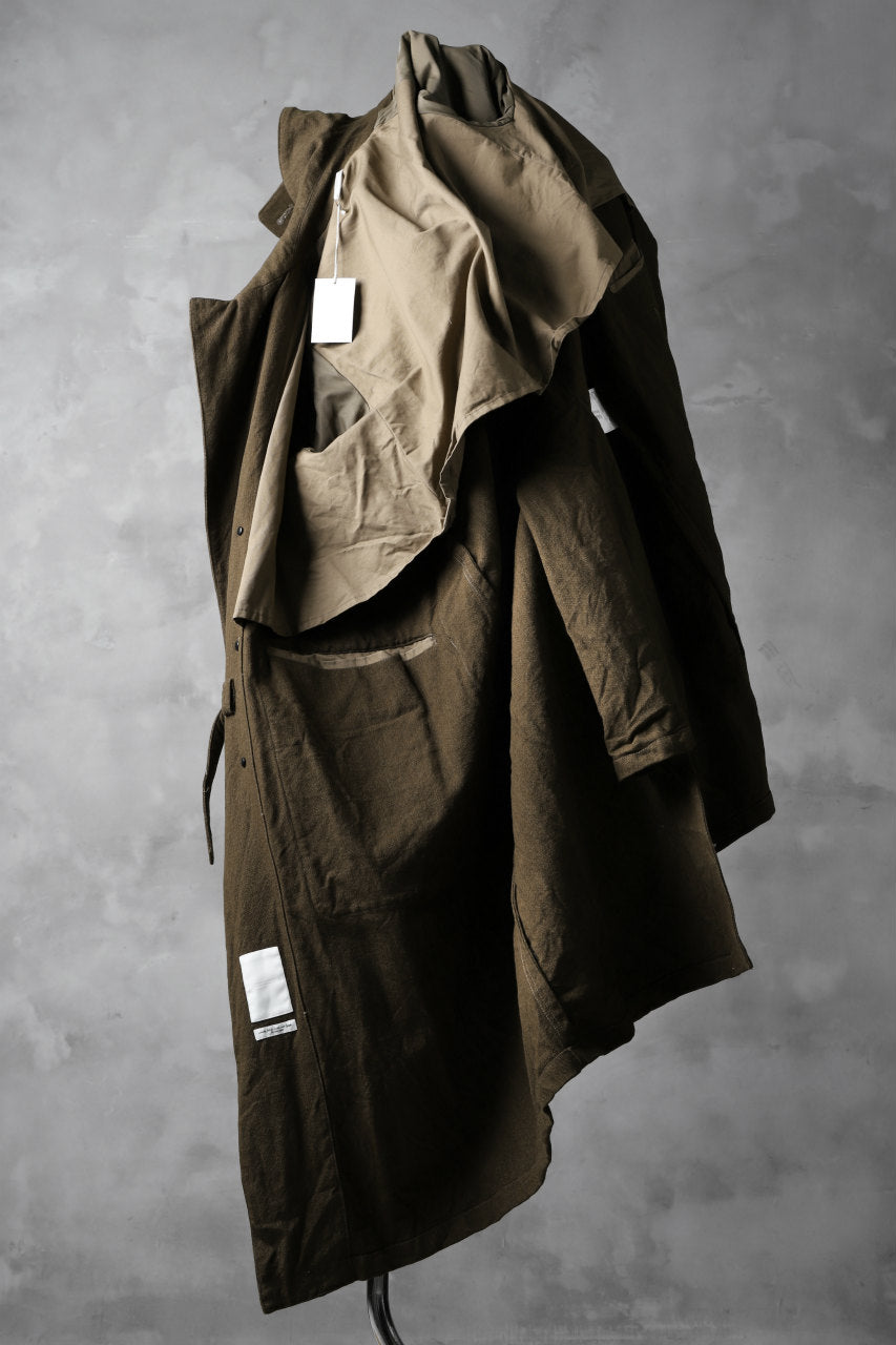 sus-sous motorcycle coat MK-2 / C60L40 4/1 Cloth (BROWN KHAKI)