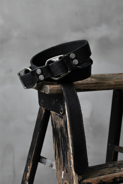 incarnation CALF LEATHER D-RING BELT #3 (BLACK)