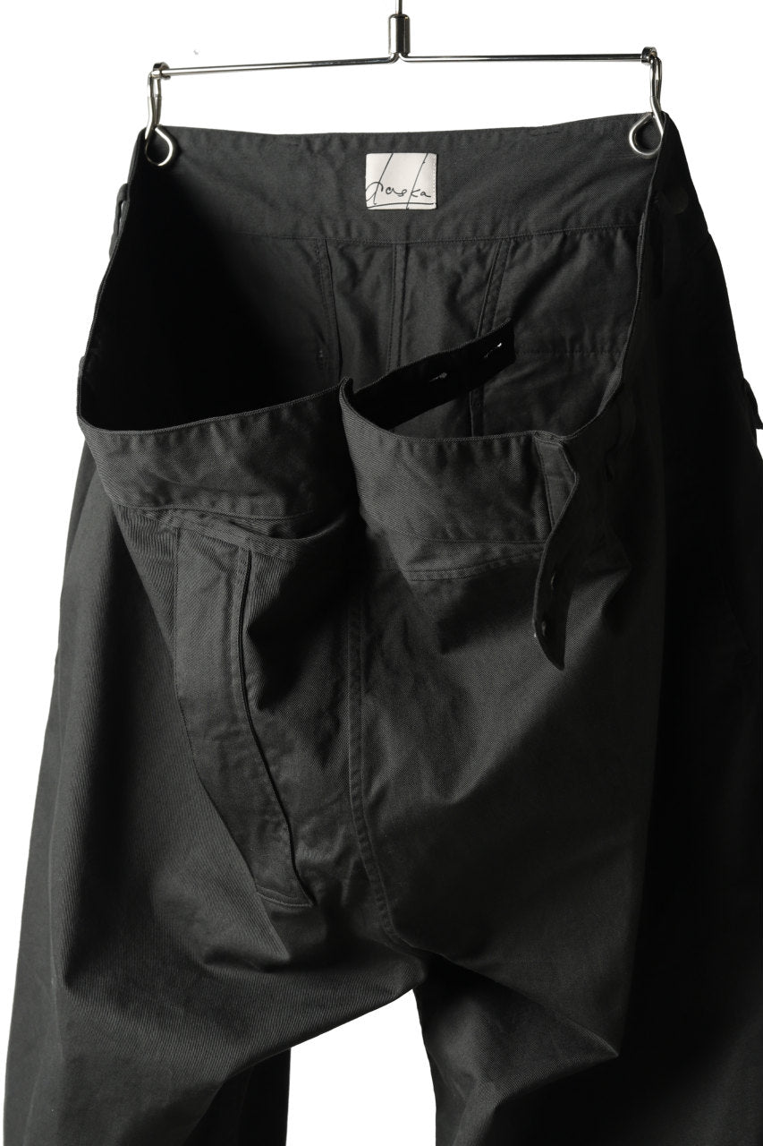 Load image into Gallery viewer, daska wrap cropped pants / organic chino (SUMI-KURO)