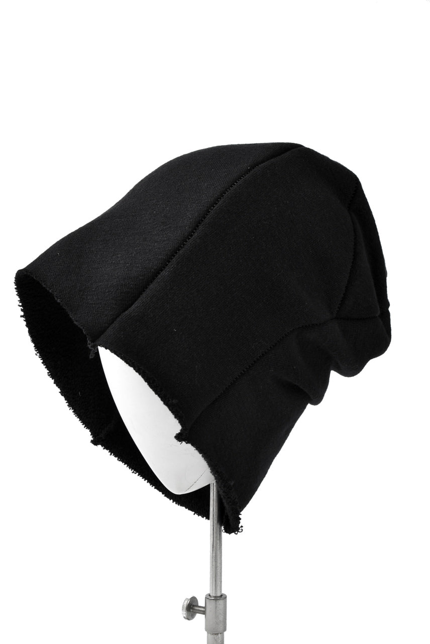 LEON EMANUEL BLANCK DISTORTION BEANIE / LOOP RIB (BLACK)