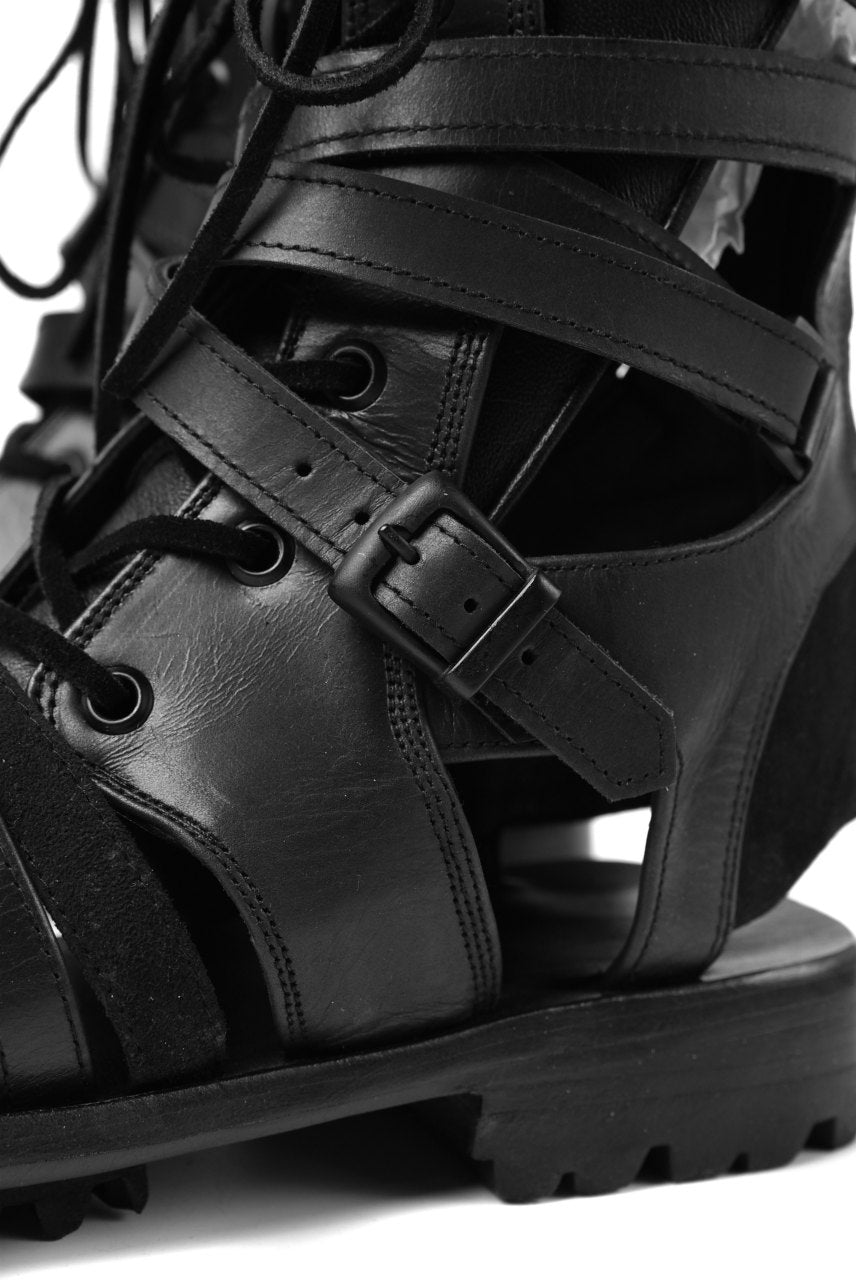 A.F ARTEFACT GLADIATOR BOOTIES SANDAL / LACE UP-BACK ZIP