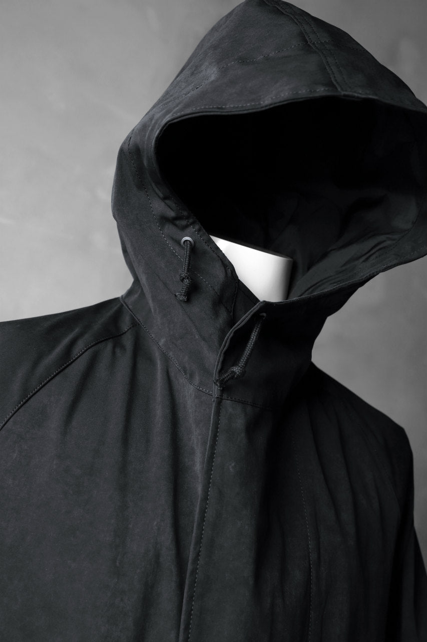 COLINA M-1948 HOOD PARKA COAT / HIGH DENSITY MILICLOTH (BLACK)
