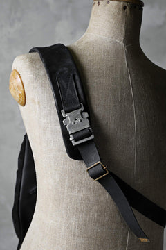 画像をギャラリービューアに読み込む, ierib exclusive One Shoulder Bag / Waxy JP Horse Butt + Nicolas Italy Vachetta (BLACK)