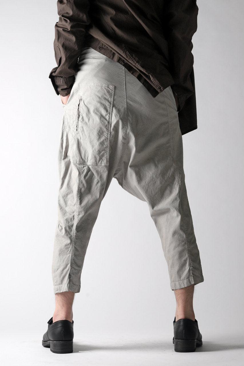 RUNDHOLZ DIP DROPCROTCH TAPERED PANTS / DYED COTTON TWILL (ZINC)