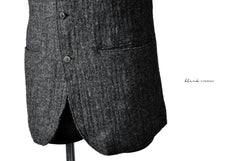 Load image into Gallery viewer, blackcrow tailor vest (wool linen fulling) (GREY)