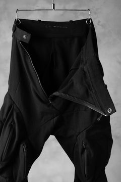 画像をギャラリービューアに読み込む, LEON EMANUEL BLANCK exclusive DISTORTION MUSCLE POCKET PANTS / MORPH TWILL (BLACK)