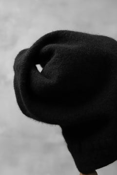 Load image into Gallery viewer, CEDRIC JACQUEMYN SHRINK WASHED FELTED BEENIE / VIRGIN WOOL (BLACK)