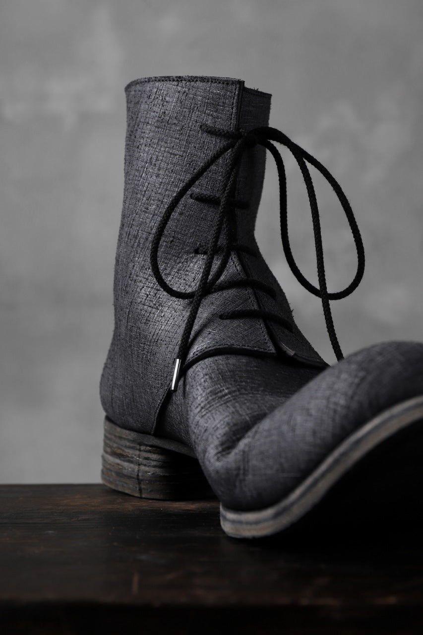 画像をギャラリービューアに読み込む, Portaille exclusive Lace Upped Back Zip Middle Boots (BABELE by TEMPESTI / NERO)