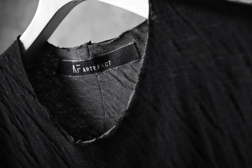 画像をギャラリービューアに読み込む, A.F ARTEFACT OUT SEAM HALF SLEEVE TEE / CONNECTING JERSEY (BLACK×GREY)