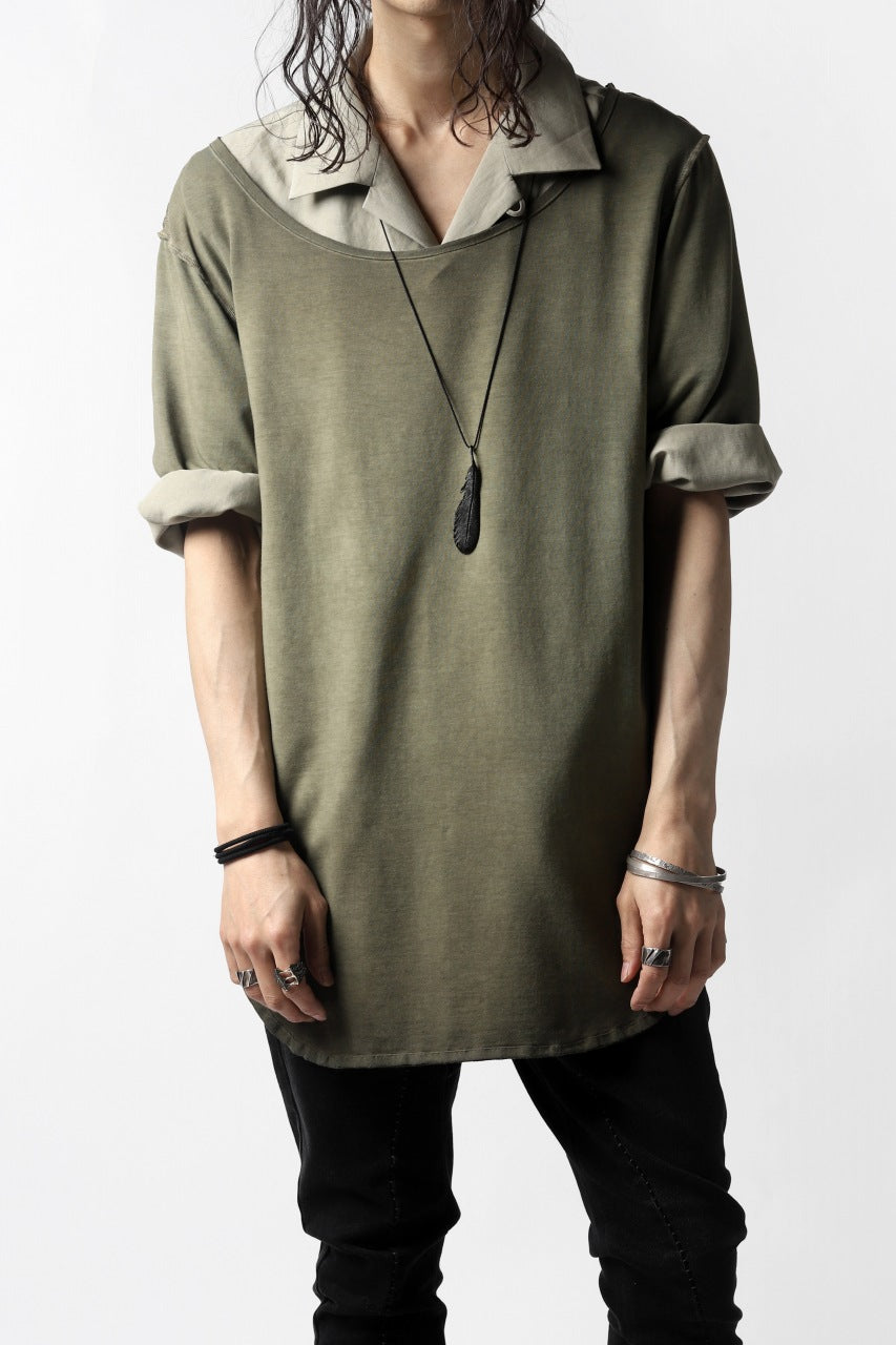 画像をギャラリービューアに読み込む, Nostra Santissima SMOOTH FIT JERSEY TOPS (REVERSE DYED / GREEN)