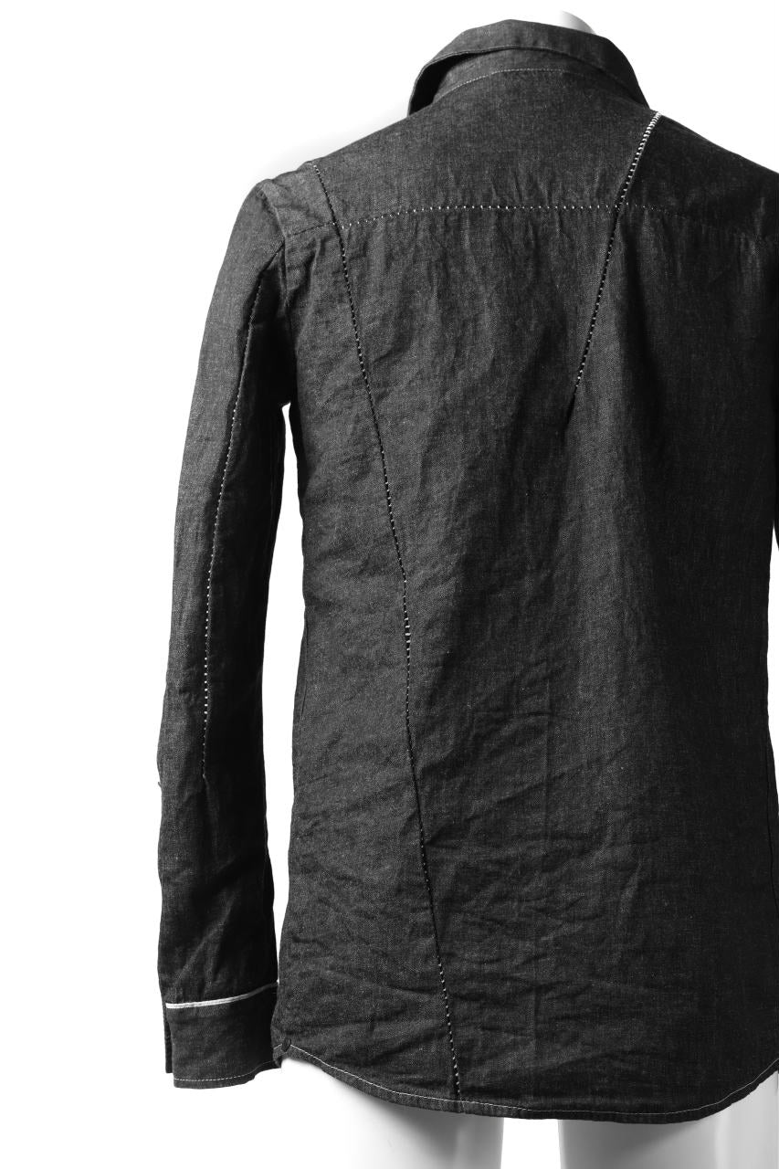 incarnation BUTTON DOWN SHIRT / ONE WASHED 6.5oz SELVEDGE CHAMBRAY (GREY)