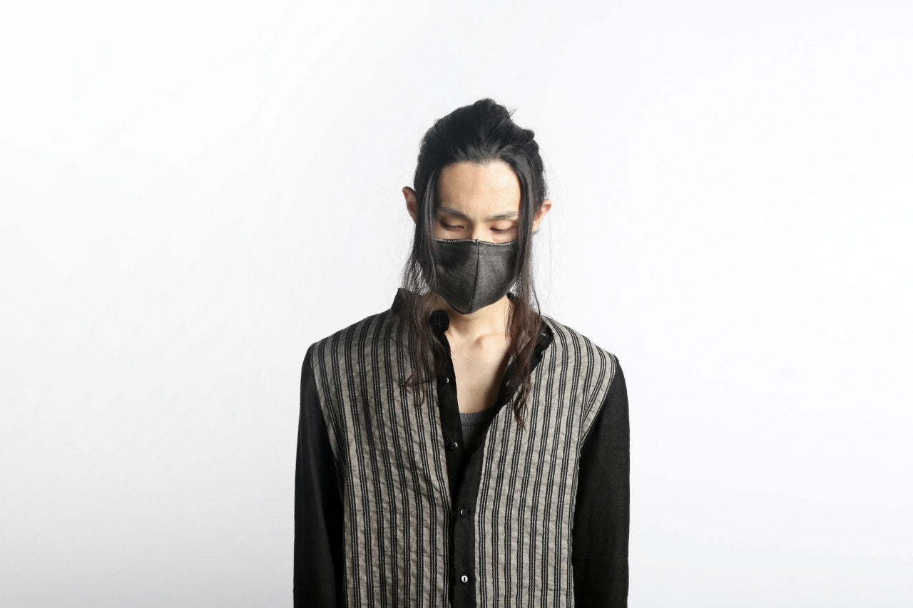A.F ARTEFACT exclusive COVERED FACE MASK#2 / HEAVY JERSEY (SUMI DYED)