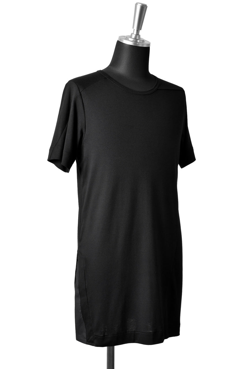 "Load image into Gallery viewer, N/07 ""MAUSK Detail"" ASSORTMENT JERSEY T-SHIRT (BLACK×BLACK)"